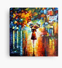Lámina metálica princesa de la lluvia - Leonid Afremov