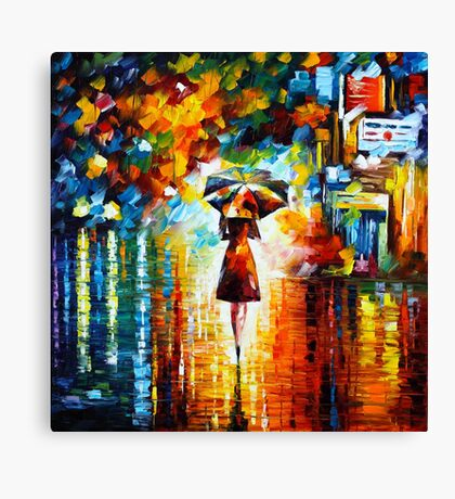 rain princess - Leonid Afremov Canvas Print