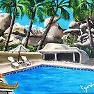 Hangin By The Pool by WhiteDove Studio kj gordon
