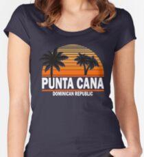 Punta Cana Beach T-shirt Dominican Republic Paradise Tshirt Women's Fitted Scoop T-Shirt