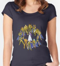 Gold Saints and Athena Women's Fitted Scoop T-Shirt