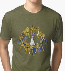 Gold Saints and Athena Tri-blend T-Shirt