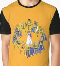 Gold Saints and Athena Graphic T-Shirt
