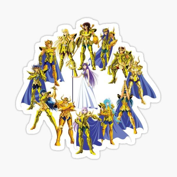 Saints d'or et Athéna Sticker