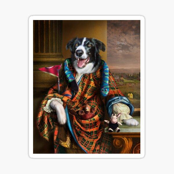 Border Collie Dog Portrait - Mic Sticker