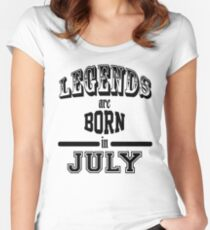 Legends are born in July - Black Women's Fitted Scoop T-Shirt