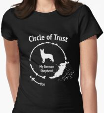 Funny German Shepherd shirt - Circle of Trust Women's Fitted T-Shirt