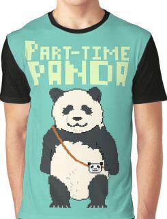 8-bit part-time panda Graphic T-Shirt