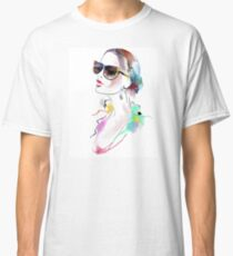 Fashion beautiful woman  Classic T-Shirt