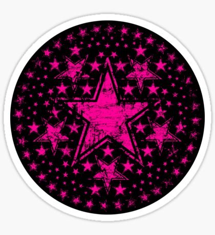 Hot Pink Stars Sticker