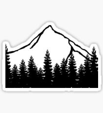 Simple mountain Sticker