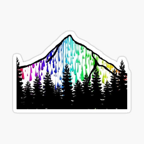paint drip mountain  Sticker