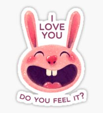 Bunny with love Sticker