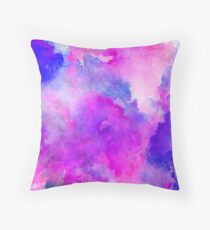 ink style of purple watercolour texture Throw Pillow
