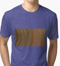 curve ribbon pattern yellow Tri-blend T-Shirt