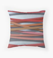 ribbon paper background red Throw Pillow