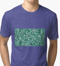 green irregular shape pattern Tri-blend T-Shirt