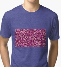 pink irregular shape pattern Tri-blend T-Shirt