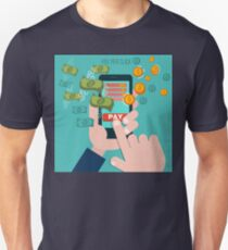 Pay Per Click Mobile Advertising Concept Unisex T-Shirt