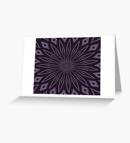 Eggplant and Aubergine Floral Design Greeting Card