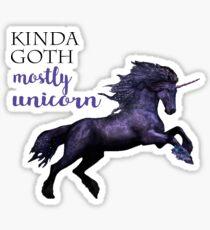 kinda goth, mostly unicorn Sticker