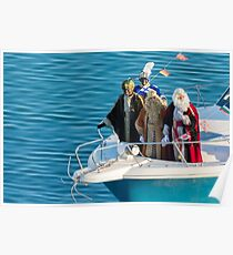 Three kings on the bow Poster