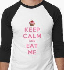 KEEP CALM AND EAT ME Men's Baseball ¾ T-Shirt