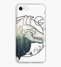 Wolf animal forest totem skull art iPhone Case/Skin