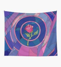 Glass Rose Wall Tapestry