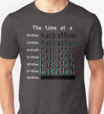 Time at a hackathon shirt (8-bit 3D) T-Shirt