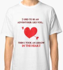 Nerd Valentine - Arrow in the heart Classic T-Shirt