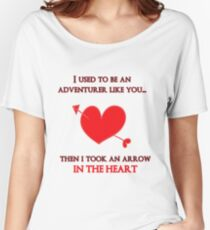 Nerd Valentine - Arrow in the heart Women's Relaxed Fit T-Shirt