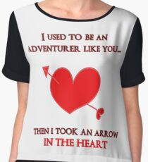 Nerd Valentine - Arrow in the heart Chiffon Top