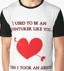 Nerd Valentine - Arrow in the heart Graphic T-Shirt