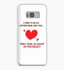 Nerd Valentine - Arrow in the heart Samsung Galaxy Case/Skin