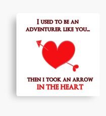 Nerd Valentine - Arrow in the heart Canvas Print