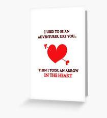 Nerd Valentine - Arrow in the heart Greeting Card