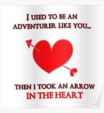 Nerd Valentine - Arrow in the heart Poster