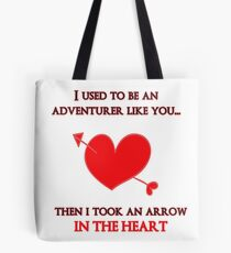 Nerd Valentine - Arrow in the heart Tote Bag