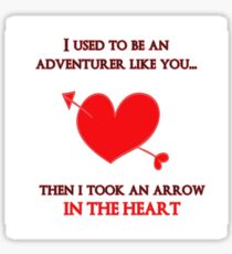 Nerd Valentine - Arrow in the heart Sticker