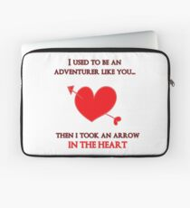 Nerd Valentine - Arrow in the heart Laptop Sleeve