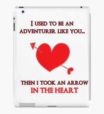 Nerd Valentine - Arrow in the heart iPad Case/Skin