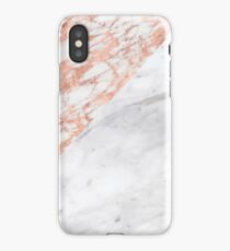 Massarosa Marchionne Bianco rose gold marble iPhone Case