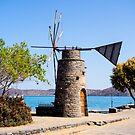Windmill - Elounda, Crete by Mark Baldwyn