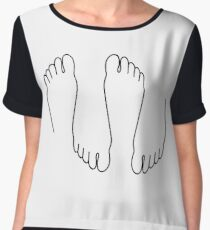 Foot fetish Chiffon Top