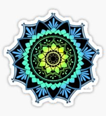 Awakening Mandala Colourized Blue Sticker