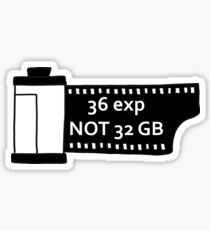 Shoot film Sticker