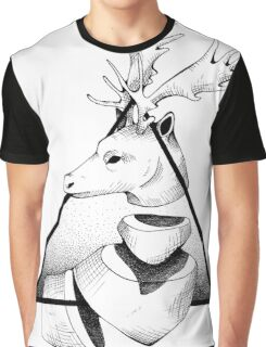 Metaphisical Deer Graphic T-Shirt