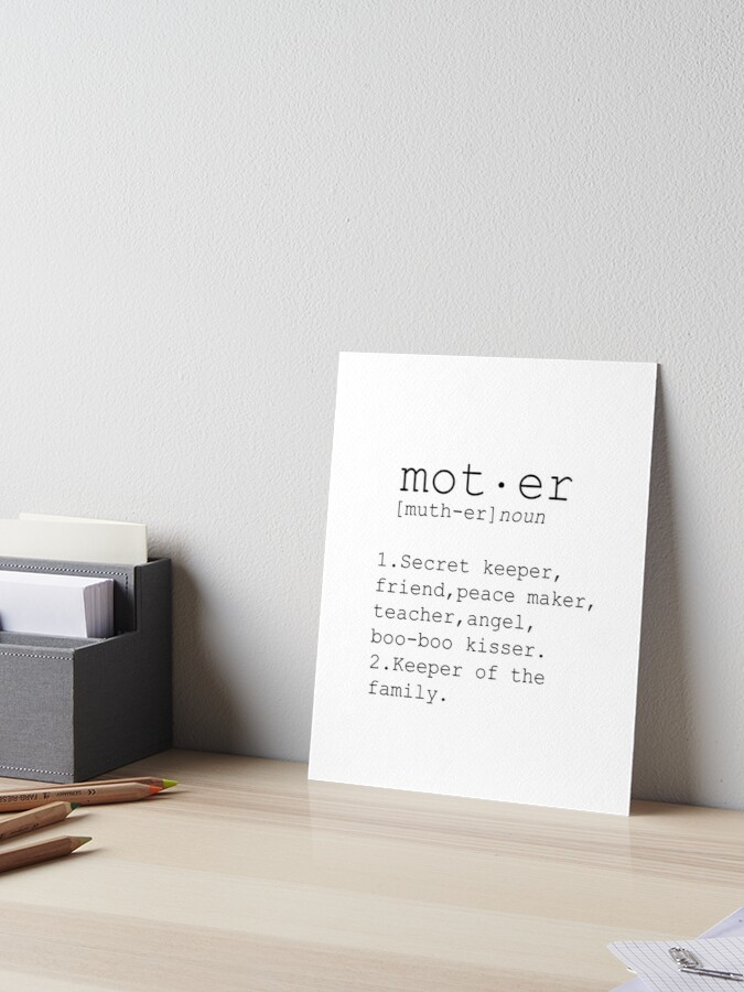 Mom Gift Mother Print Gift Mom Definition Print Funny Mom Gifts