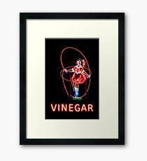 Neon Sign, Skipping Girl Vinegar, Melbourne, Australia  Framed Print